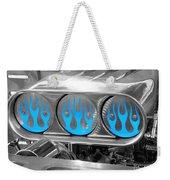 Blue Flames Weekender Tote Bag