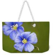 Blue Flax #2 Weekender Tote Bag