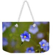 Blue Flax #4 Weekender Tote Bag
