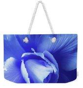 Blue Floral Begonia Weekender Tote Bag