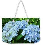 Blue Floral Hydrangea Flower Summer Garden Basle Troutman Weekender Tote Bag