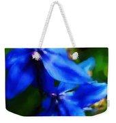 Blue Flower 10-30-09 Weekender Tote Bag