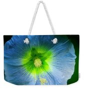 Blue Flower In Morning Sun Weekender Tote Bag