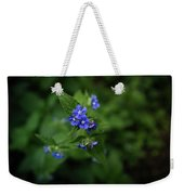 Blue Flower In Spring Weekender Tote Bag