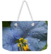 Blue Spring Flower Weekender Tote Bag