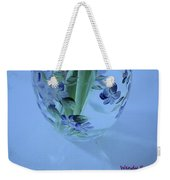 Blue Flower Vase Weekender Tote Bag