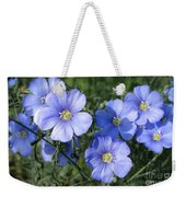 Blue Flowers In The Sun Weekender Tote Bag