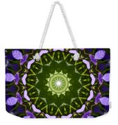 Blue Flowers Kaleidoscope Weekender Tote Bag