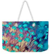 Blue Flowers Weekender Tote Bag