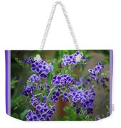 Blue Flowers With Colorful Border Weekender Tote Bag