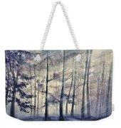 Blue Forest In Winter Weekender Tote Bag