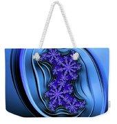 Blue Fractal Art Curved And Elegant Weekender Tote Bag
