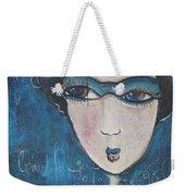 Blue Geisha Love Detail Weekender Tote Bag