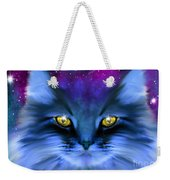 Blue Ghost Cat Weekender Tote Bag