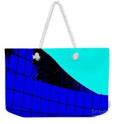 Blue Glass Abstract Weekender Tote Bag