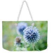 Blue Globe Thistle Flower Weekender Tote Bag