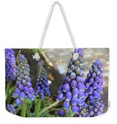 Blue Grape Hyacinths Weekender Tote Bag
