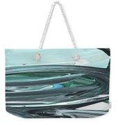 Blue Gray Brush Strokes Abstract Art For Interior Decor V Weekender Tote Bag