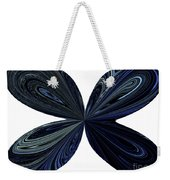 Blue, Green And Black Butterfly Astract Weekender Tote Bag