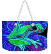 Blue Green Frog Weekender Tote Bag