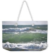 Blue Green Waves Weekender Tote Bag