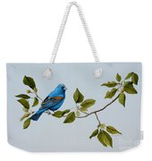 Blue Grosbeak Weekender Tote Bag