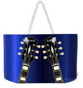 Blue Guitar Reflections Weekender Tote Bag