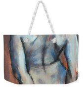 Blue Hair Weekender Tote Bag