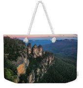 Blue Haze At Sunrise At Ecco Point In Blue Mountains Weekender Tote Bag