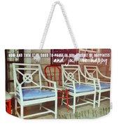 Blue Heaven Quote Weekender Tote Bag
