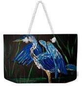 Blue Heron At Night Weekender Tote Bag