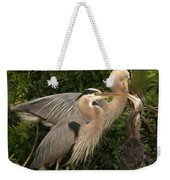 Blue Heron Family Weekender Tote Bag