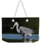 Blue Heron - Fish By The Tail Weekender Tote Bag