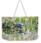 Blue Heron Fishing In A Pond In Bright Daylight Weekender Tote Bag