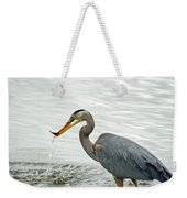 Blue Heron Fishing Weekender Tote Bag