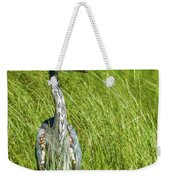 Blue Heron In A Marsh Weekender Tote Bag