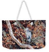 Blue Heron In Tree Weekender Tote Bag