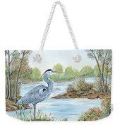 Blue Heron Of The Marshlands Weekender Tote Bag
