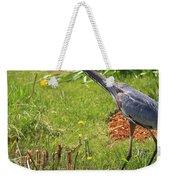 Blue Heron Scene Weekender Tote Bag