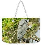Blue Heron Series Little One Weekender Tote Bag
