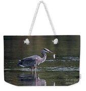 Blue Heron Snack Weekender Tote Bag