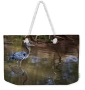 Blue Heron Stalking  Weekender Tote Bag