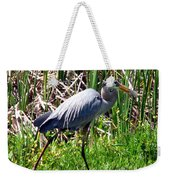 Blue Heron With Lunch Weekender Tote Bag