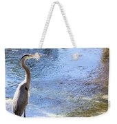 Blue Heron With Shadow Weekender Tote Bag