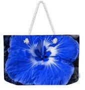 Blue Hibiscus Weekender Tote Bag