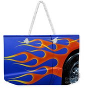 Blue Hot Rod Closeup Weekender Tote Bag