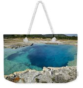 Blue Hot Springs Yellowstone National Park Weekender Tote Bag