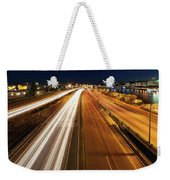 Blue Hour Freeway Light Trails Weekender Tote Bag