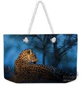 Blue Hour Leopard Weekender Tote Bag