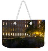 Blue Hour Over The Cocheco Mills Dover New Hampshire Weekender Tote Bag